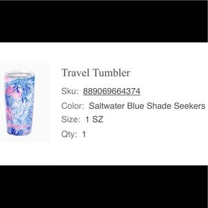 Lilly Pulitzer Saltwater Shade Seekers Tumbler